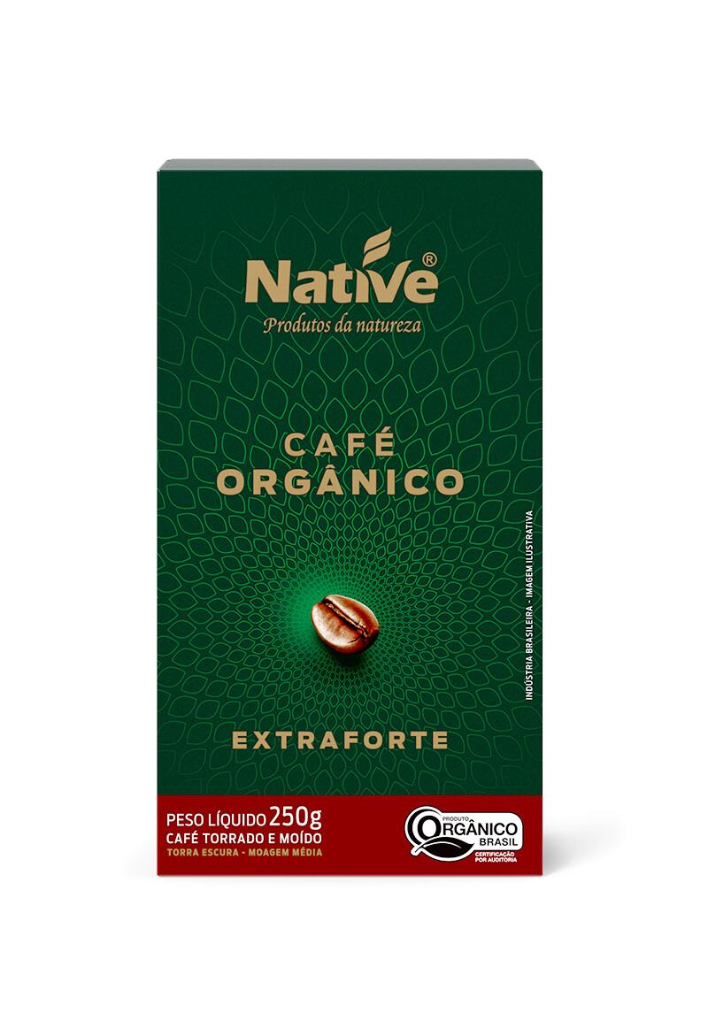 Coffee Roasted and Ground Coffee Organic Extra Bold القهوة العضوية المحمصة والقهوة المطحونة (Box) - Native