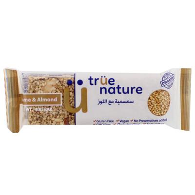 Bar Sesame & Almonds Organic بار السمسم واللوز العضوي (Bar) - True Nature