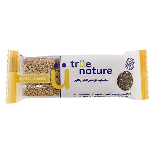Bar Sesame & Chia Organic بار السمسم واللوز العضوي (Bar) - True Nature