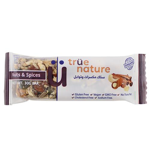 Bar Nuts & spices Organic بار مكسرات وتوابل عضوية (Bar) - True Nature