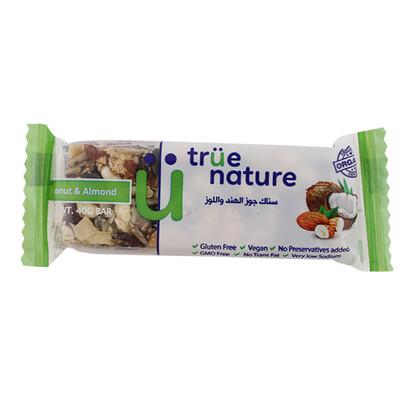 Bar Coconut & Almond Organic بار جوز الهند واللوز عضوية (Bar) - True Nature