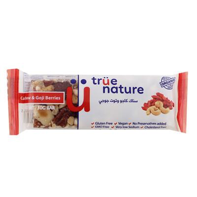 Bar Cashew & Goji Organic بار كاجو وجوجي عضوية (Bar) - True Nature