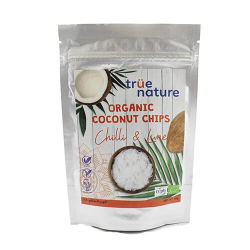 Chips Chili & Lime Coconut Organic شيبس تشيلي و لايم و جوز الهند عضوي (Bag) - True Nature