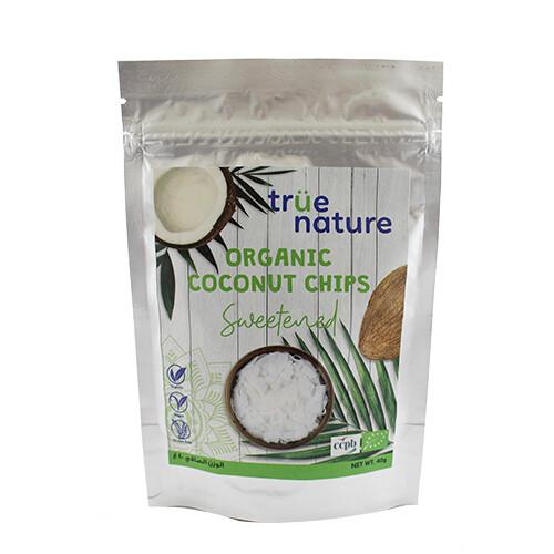 Chips Sweetened Coconut Organic شيبس جوز الهند المحلى عضوي (Bag) - True Nature
