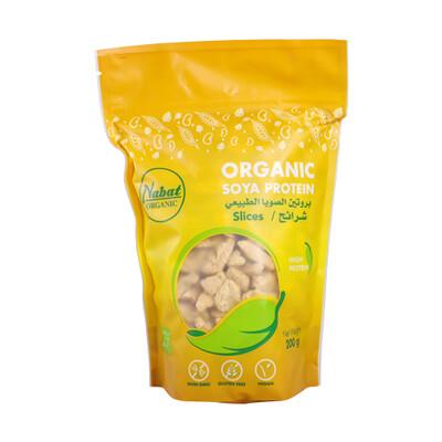 Soya Protein Slices Organic قطع بروتين الصويا عضوي (Bag) - Nabat