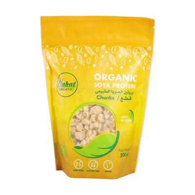 Soya Protein Chunks Organic قطع بروتين الصويا عضوي (Bag) - Nabat