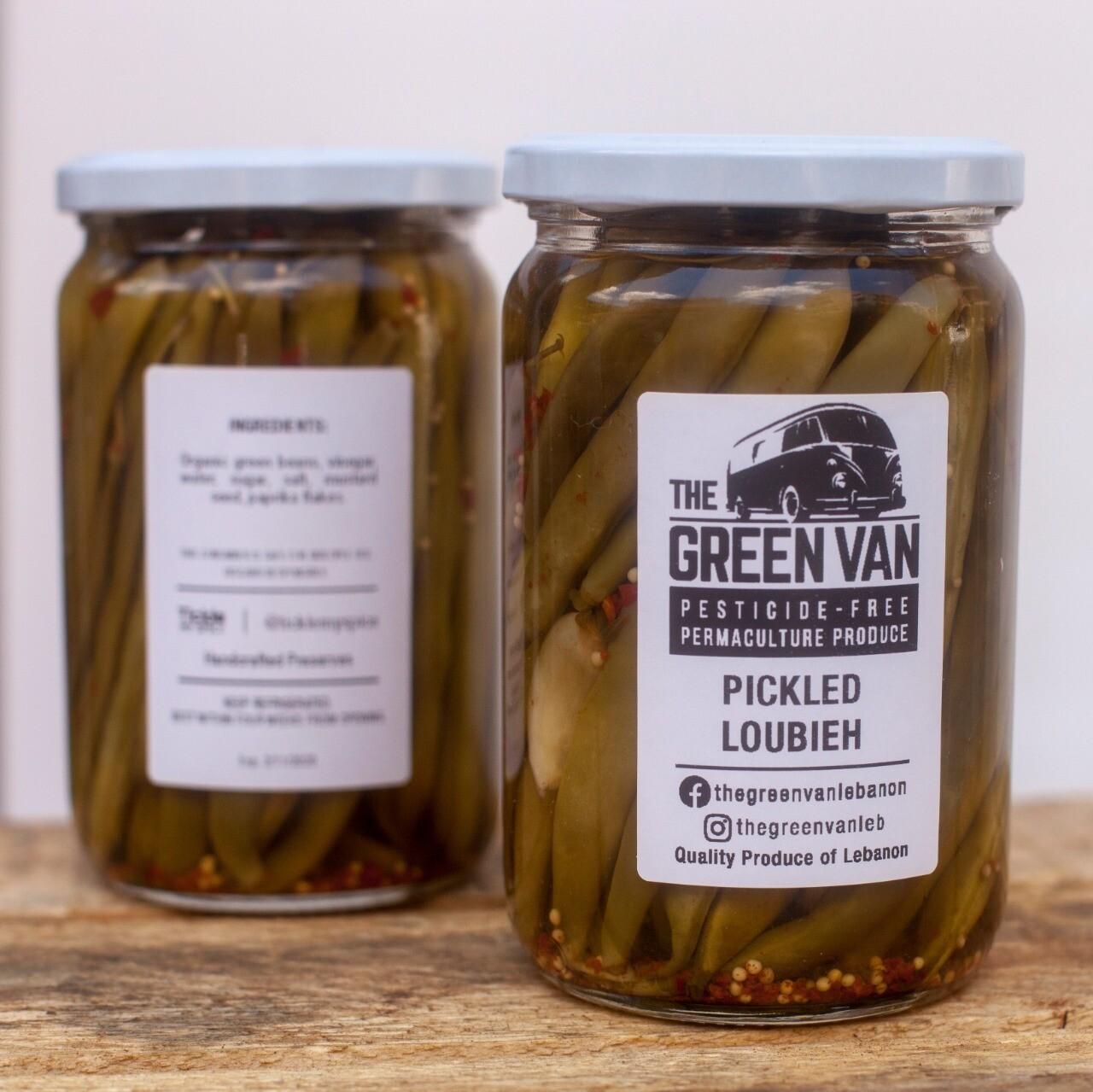 Green Beans Pickled  مخلل الفاصوليا الخضراء (Jar) - The Green Van Permaculture