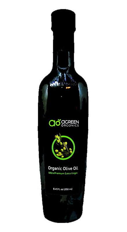 Olive Oil Ultra Premium Extra Virgin Organic زيت زيتون فائق الجودة (Bottle) - Agreen Organics