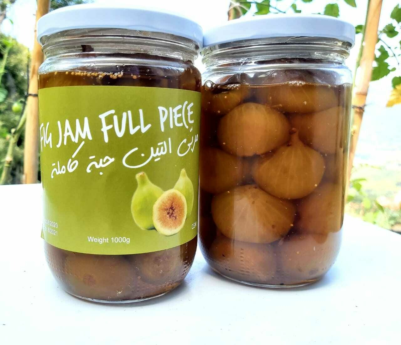 Fig Jam Whole Piece مربى التين حبة كاملة (Jar) - Les Reserves du Grenier