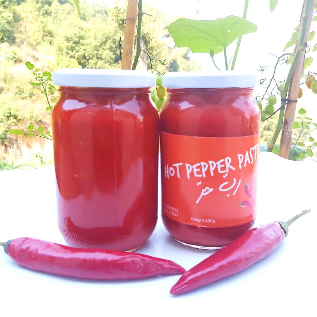 Pepper Hot Paste رب الفلفل الحار (Jar) - Les Reserves du Grenier