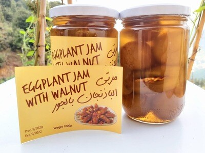 Eggplant Jam with Walnuts مربى الباذنجان بالجوز (Jar) - Les Reserves du Grenier