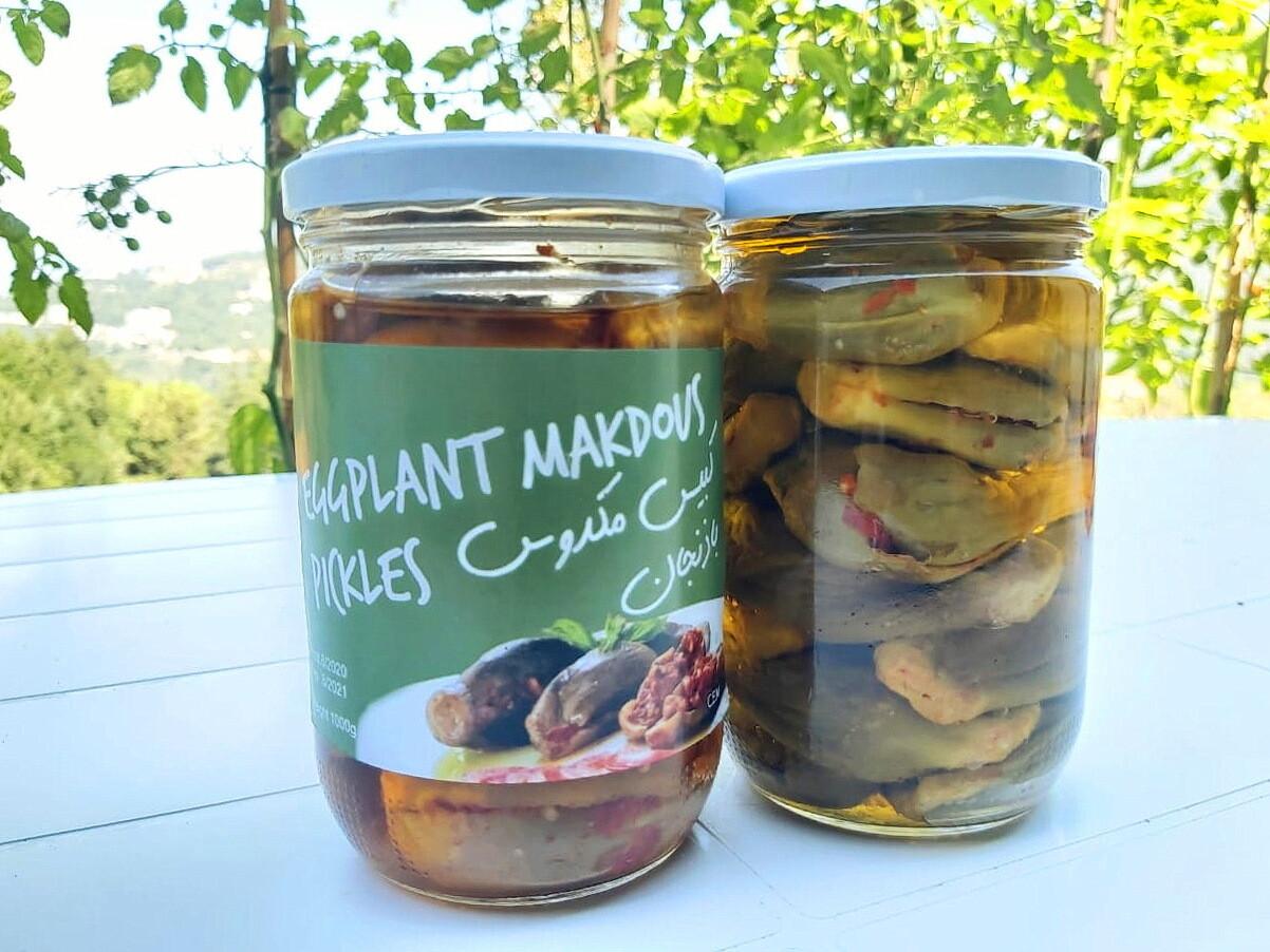 Eggplant Pickled Stuffed باذنجان محشي مخلل (Jar) - Les Reserves du Grenier