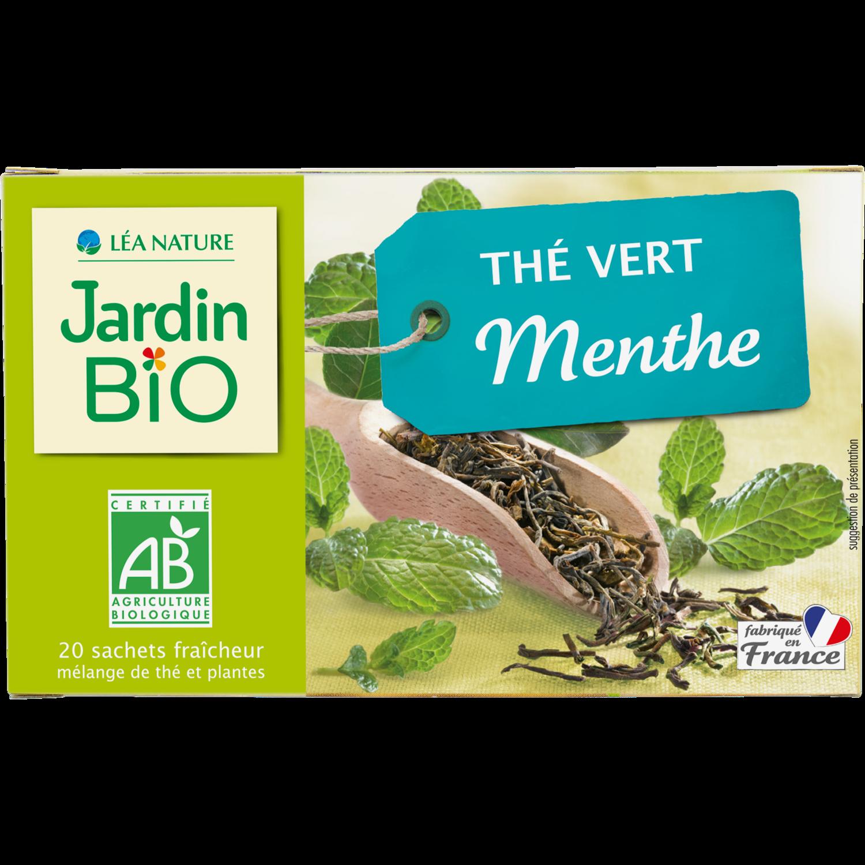 The Vert Menthe Bio شاي أخضر بالنعناع (Box) - Jardin Bio