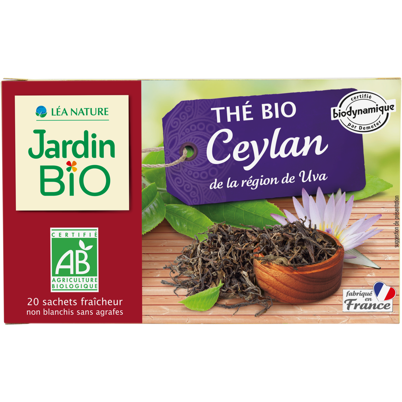 Thé Noir Ceylan Biodynamie Bio شاي أسود سيلاني عضوي حيوي (Box) - Jardin Bio