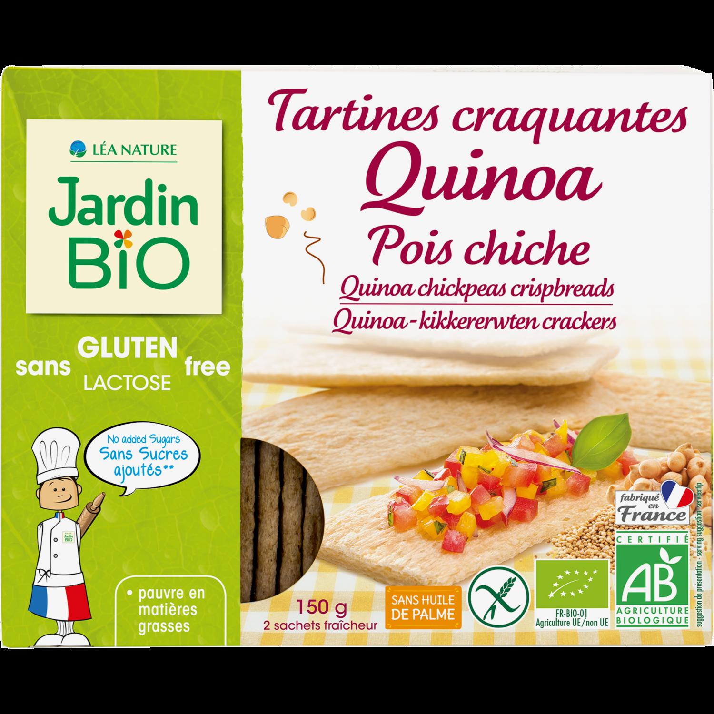 Tartines Quinoa Pois Chiche Bio توست الكينوا والحمص العضوي (Box) - Jardin Bio