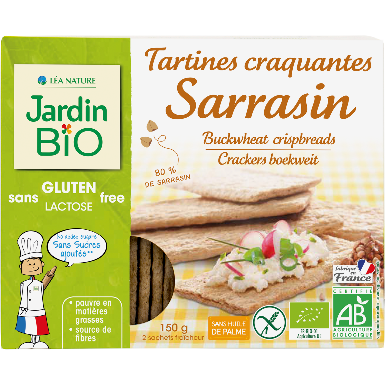 Tartines Sarrasin Gluten Bio الخبز المحمص الغلوتين الحنطة السوداء (Box) - Jardin Bio