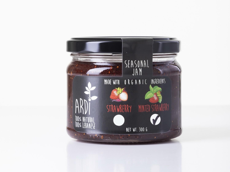 Minted Strawberry Jam مربى الفراولة بالنعناع (Jar) - ARDI