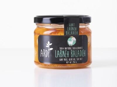 Labneh Goat Baladieh Spicy لبنة الماعز بلديه حاره (Jar) - ARDI