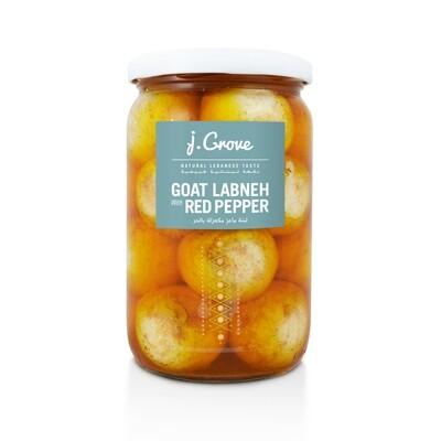 Labneh Goat Red Pepper لبنة الماعز حاره (Jar) - J.Grove