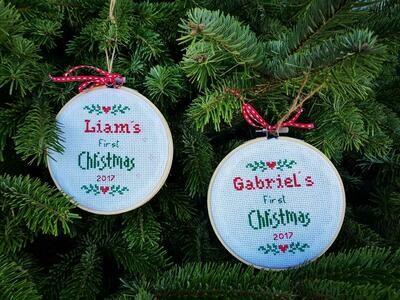 Point de Croix - Christmas Ornements (Piece) - Beamini