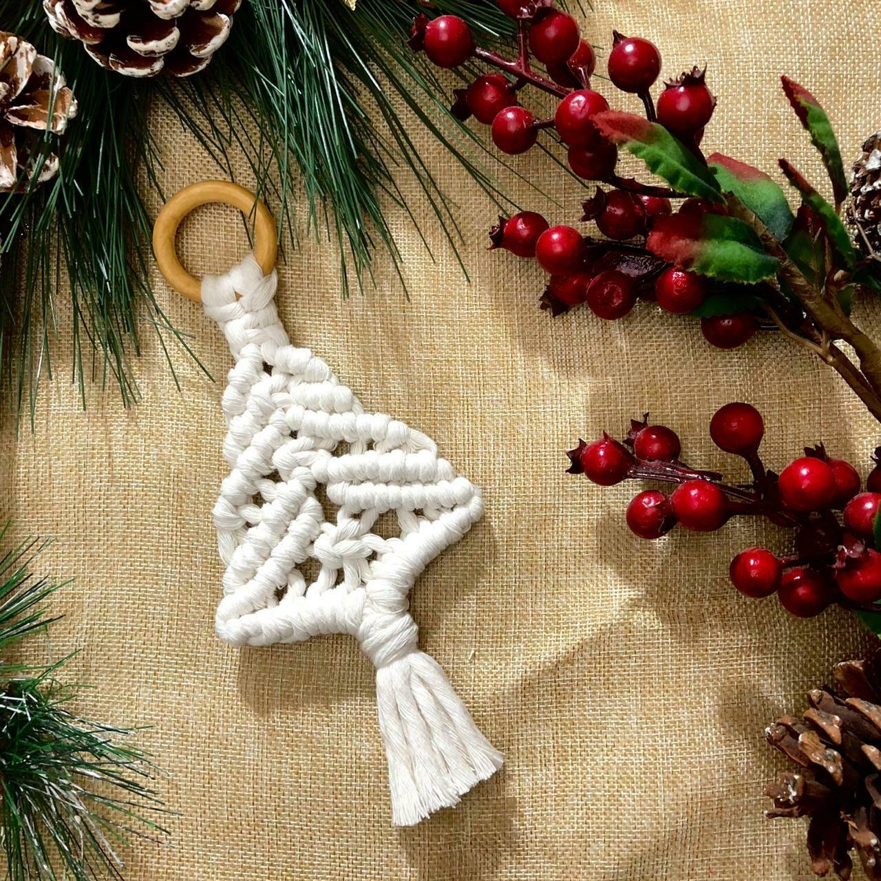 Macramé - Ornament Tree #1 (Piece) - Spot the Knot
