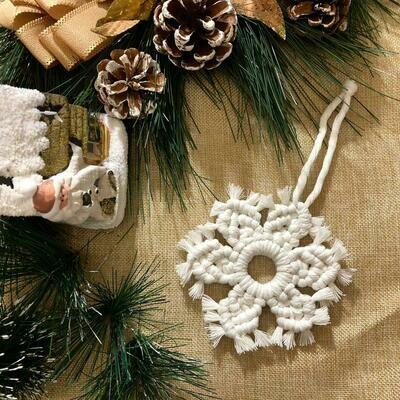 Macramé - Ornament Snowflake (Piece) - Spot the Knot