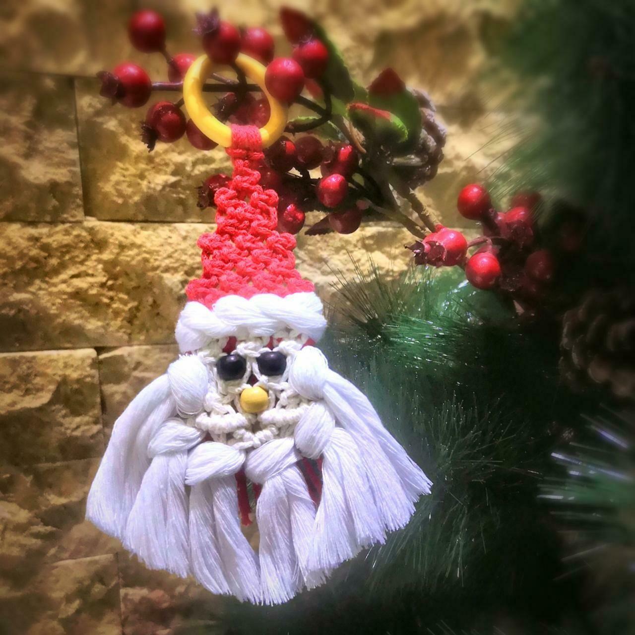 Macramé - Ornament Santa Claus (Piece) - Spot the Knot
