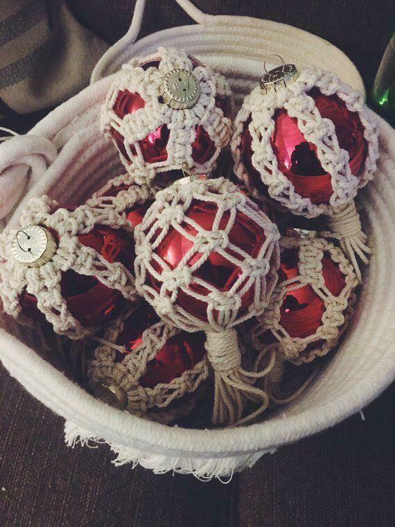 Macramé - Ornament Ball #4 (Piece) - Spot the Knot
