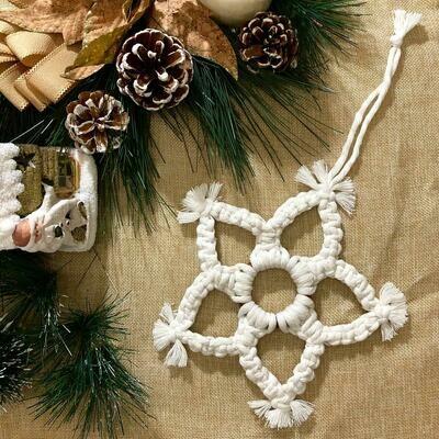 Macramé - Ornament Snowflake #2 (Piece) - Spot the Knot