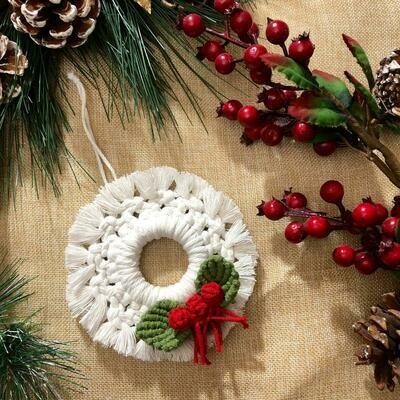 Macramé - Ornament Ball #2 (Piece) - Spot the Knot