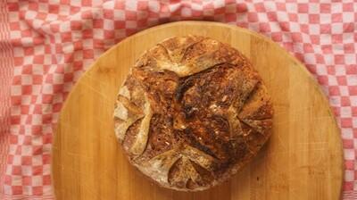 Sourdough Bread Multi-Seed خبز العجين المخمر متعدد البذور (Piece) - Atelier n7