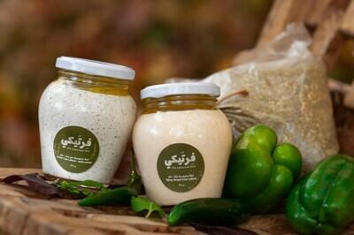 Labneh Cow Spicy لبنة بقري حاره (Jar) - Fertaike