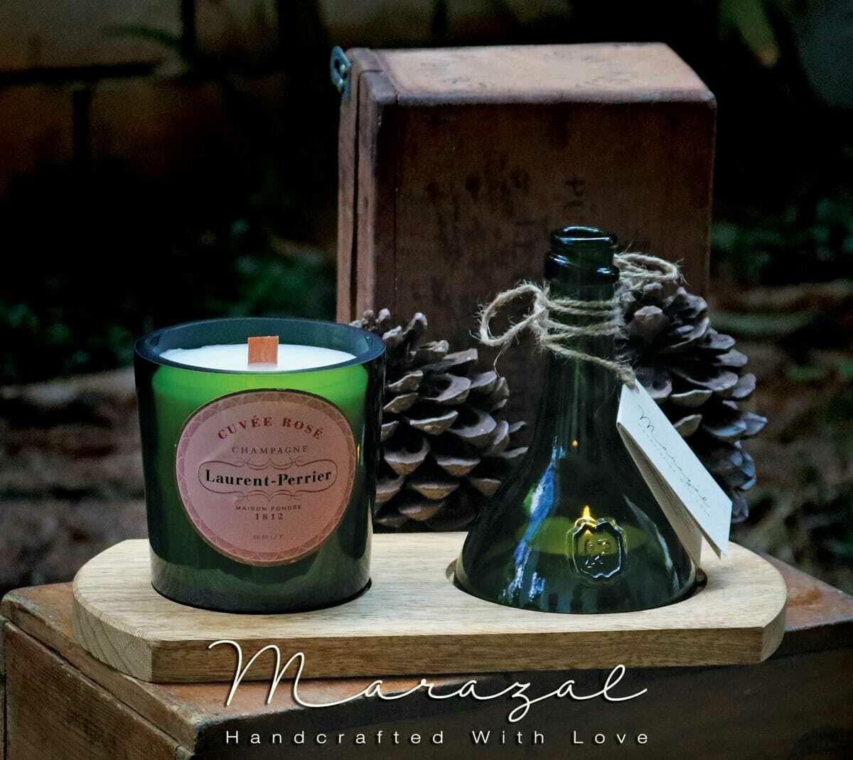 Bottle Upcycling Candle Double (Piece) - Marazal