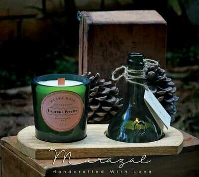 Bottle Upcycling Candle Double (Piece) - Marazal