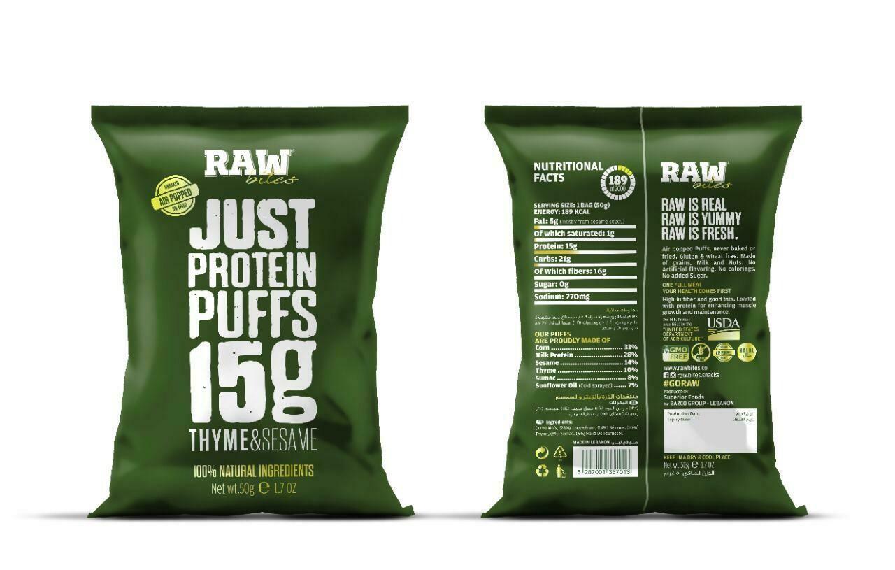 Chips Corn Thyme & Sesame (Bag) - Raw Bites
