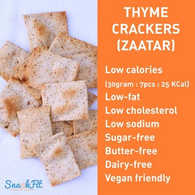 Crackers Thyme Lite (Box) - Snackfit