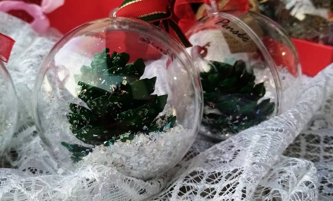 Ball Christmas Green Cones (Piece) - Pensee