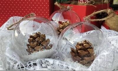 Ball Christmas Gold Cones (Piece) - Pensee