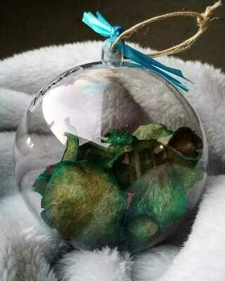 Ball Christmas Dried Blue Roses (Piece) - Pensee