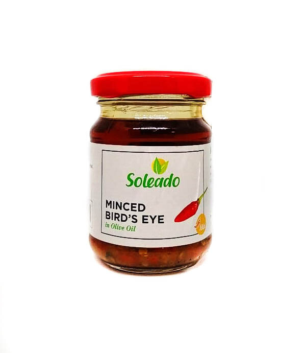 Minced Bird's Eye in Extra Virgin Olive Oil (Jar) - Soleado