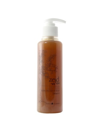 Olive Oil Liquid Soap Agarwood and Bay Leaves (Bottle) - Zejd