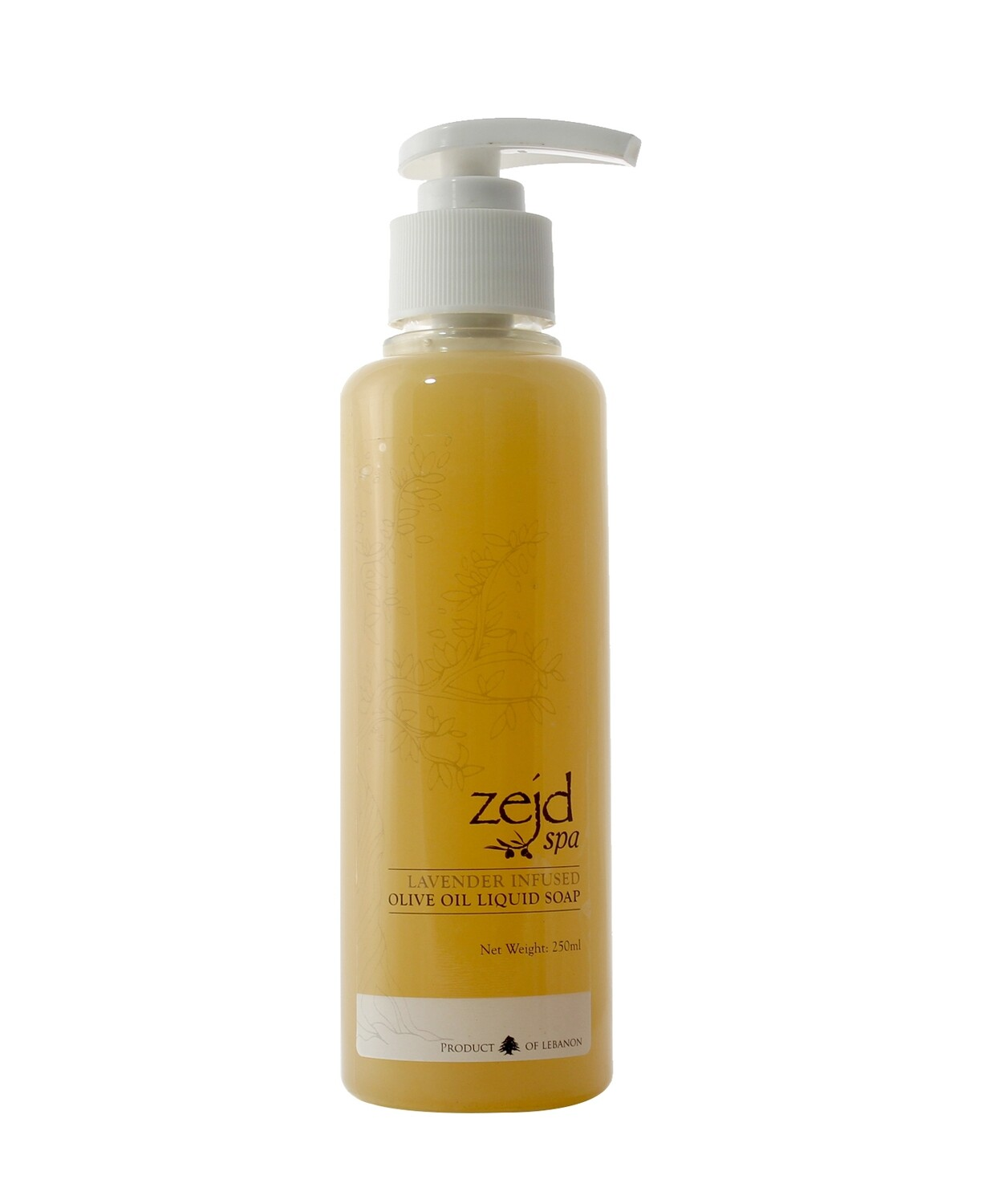 Olive Oil Liquid Soap Lavender (Bottle) - Zejd