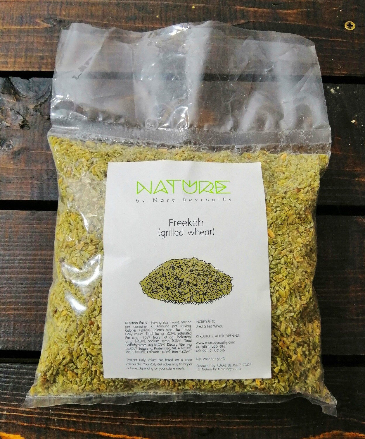 Freekeh Roasted فريكة (Bag) - Nature by Marc Beyrouthy