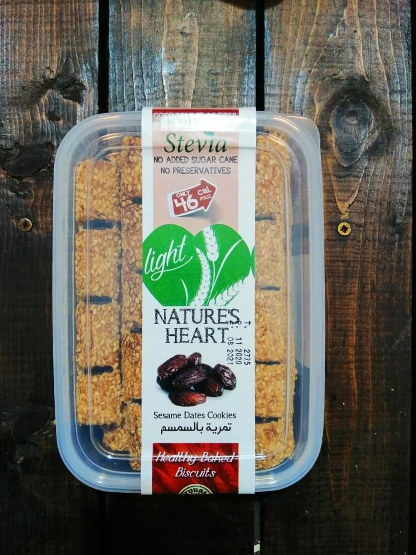 Cookies Stevia Sesame Dates (Box) - Nature's Heart