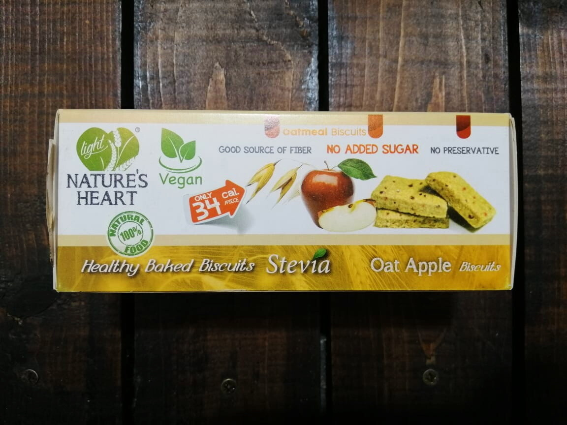 Cookies Stevia Oat Apples (Box) - Nature's Heart
