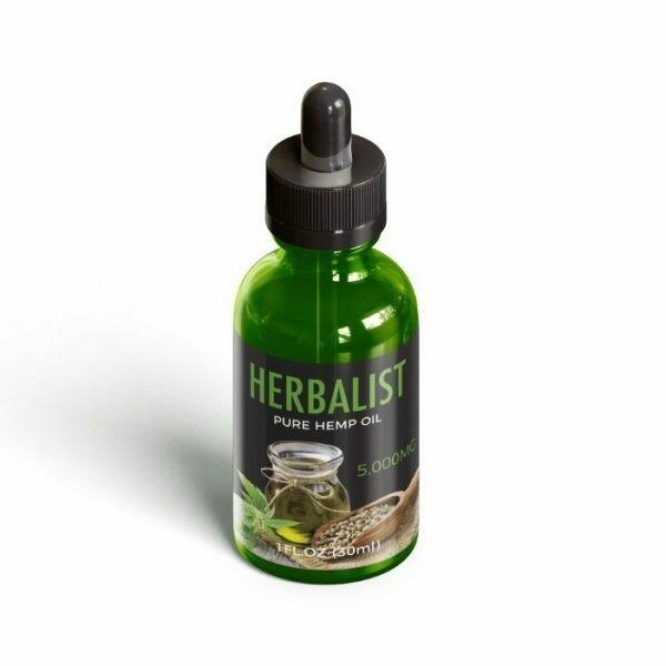 Pure hemp oil 5000 mg (Bottle) - Herbalist