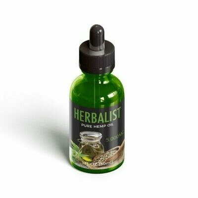 Pure hemp oil 5000 mg (Bottle) - Herbalist