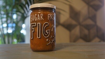 Fig Hole Sugar-Free Jam مربى التين خالي من السكر (Jar) - Celine Home Made Delights