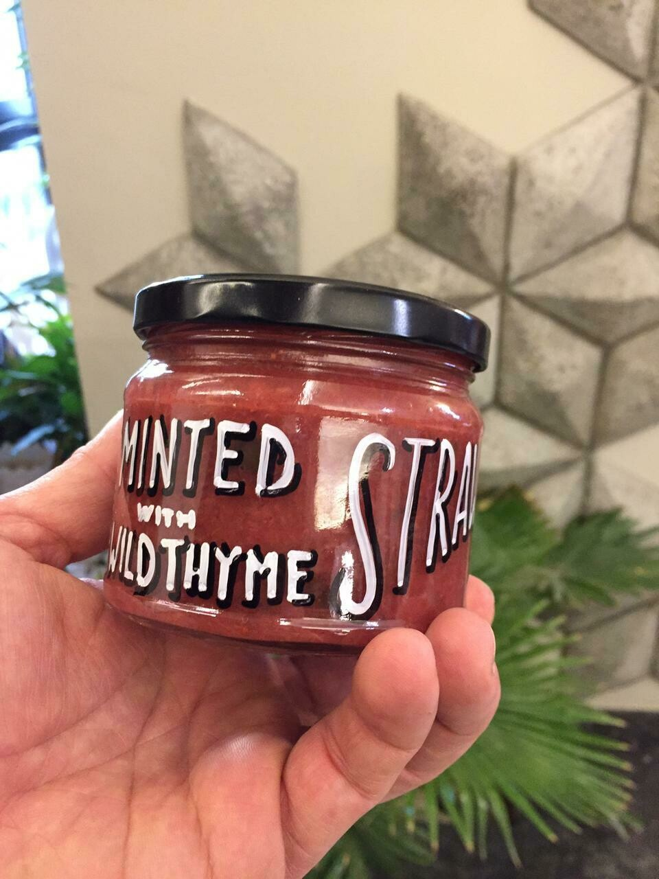 Strawberry with Wild Thyme Jam مربى الفراولة مع الزعتر البري (Jar) - Celine Home Made Delights