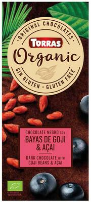 Chocolate Dark with Goji & Acai Organic دقيق اللوز عضوي (Bag) - Nabat